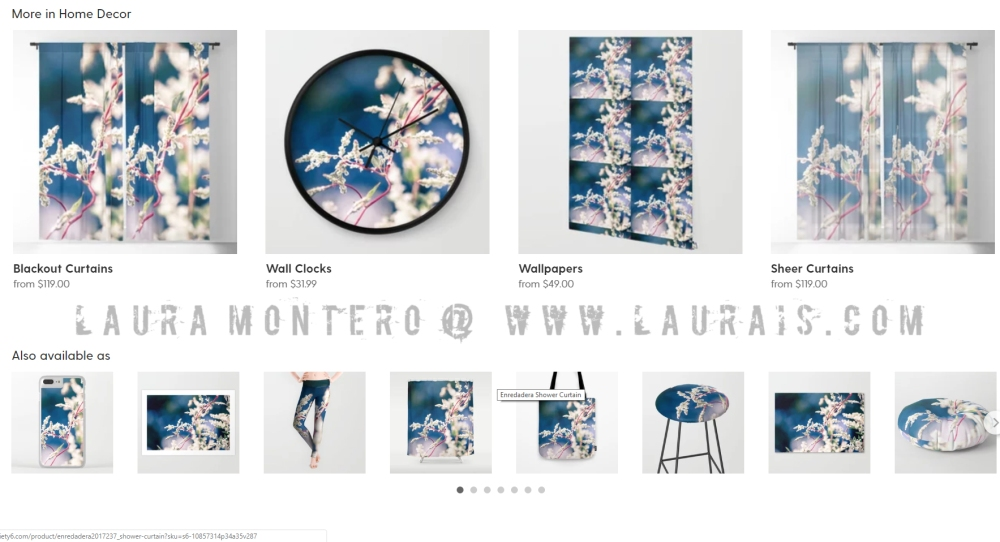 Laurais Arts society6 various products 2